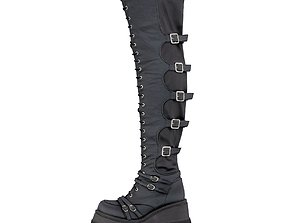 Demonia Leather Boots 3D