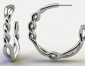 Continuance Large Hoop Earrings 3D print model