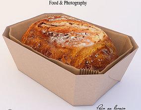 Sourdough bread 3D model