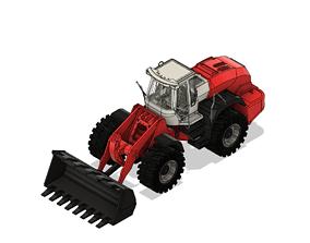 3D printable model lesu liebherr 574 hydraulic wheel
