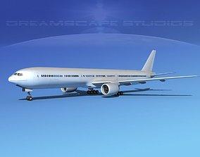 Boeing 777-300 Bare Metal 3D