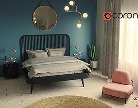 3D Bedroom in Nature