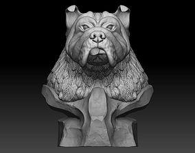 3D model bulldog quadruped