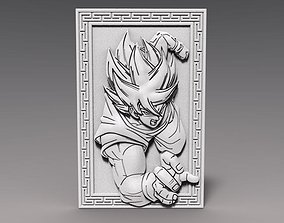 3D printable model Goku dragon ball bas-relief CNC