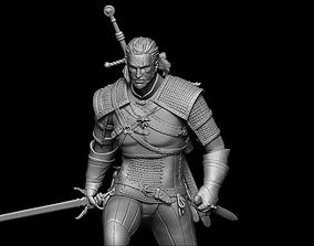 3D print model Geralt of Rivia The Witcher 3