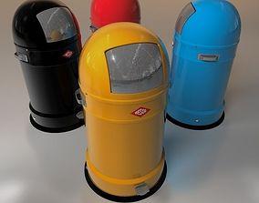 3D model trash bin 2 household