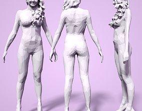 3D print model Girl Low poly Sculpture woman