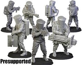 3D printable model Biohazard suit 32 mm