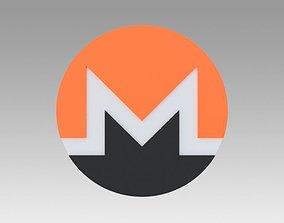 Monero Crypto Currency 3D model