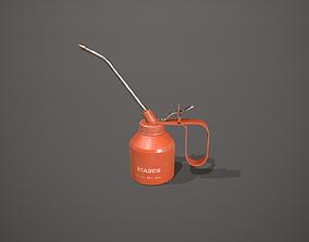 Orange Oil Can 3D model