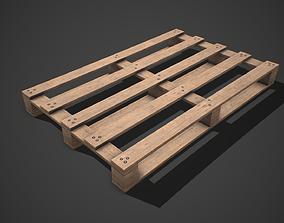 3D asset Low poly European Wood pallet 02 PBR Game Ready