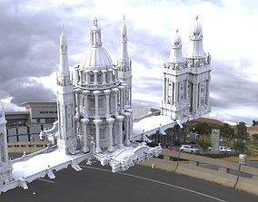 Royal architecture dome 3D model