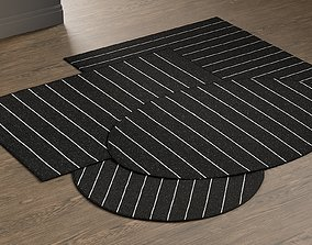 Crate Barrel Bold Graphite Rugs 3D