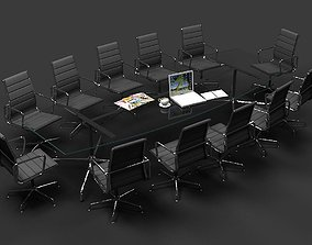 3D model Eames Conference Table and chair Set
