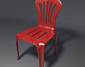 Plastic Chair - 1 - b 3D model