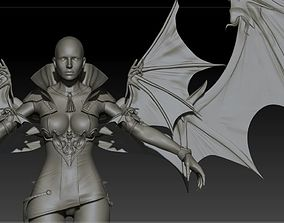 3D Vampire girl remastered High poly zbrush project