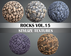 3D asset Stylized Rocks Vol 15 - Hand Painted Texture