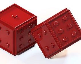 3D print model plastic dice
