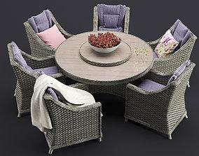 Comfort Outdoor Furnitures Set 3D