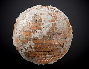 Brick Wall Sloppy Concrete Seamless PBR Texture 3D