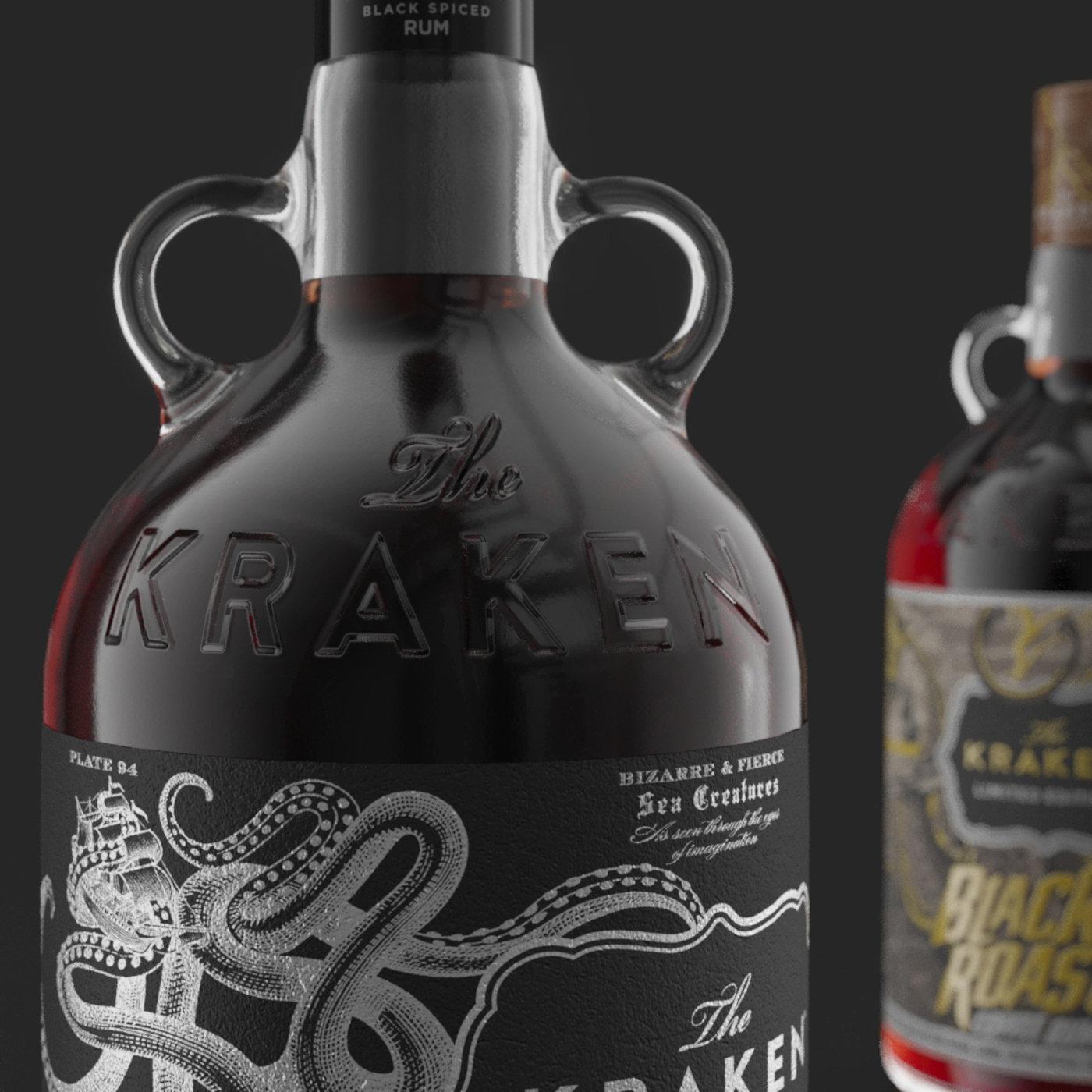 Kraken Rum bottles