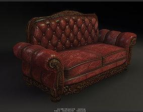 3D asset Antique Sofa game model
