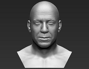 Vin Diesel bust 3D printing ready stl obj