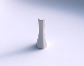 3D printable model Vase squeezed and bent hexagon 2 smooth