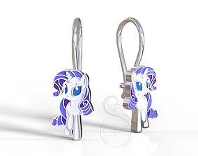 Rarity pony earrings 3D print model