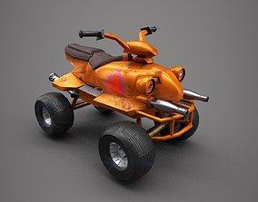quad bike low poly 3D model