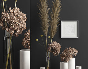 3D Decor with dry flowers