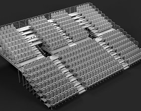 Theatre Raked Seating 3D model