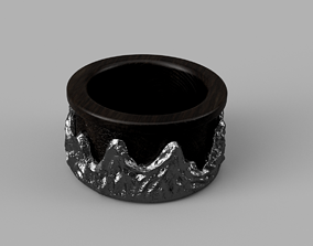 3D printable model Ring Wild Rocks