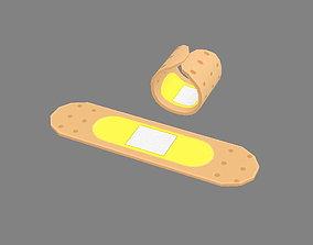 3D asset Cartoon Band-Aid