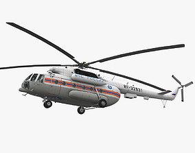 3D model VR / AR ready Mi-8MTV Russian Emercom