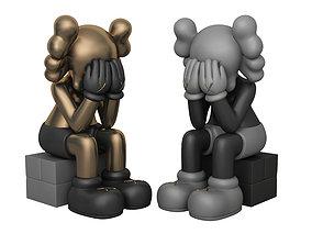 kaws modern art scculpture 3D model