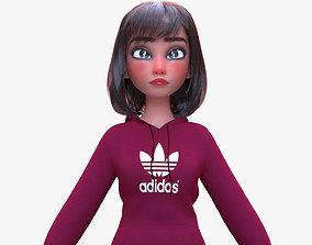 3D model Female cartoon character Helen