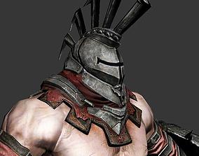 3D asset animated warrior