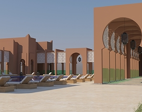 swiming Traditional Moroccan Pool Style Tamouda Bay 3D
