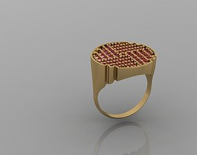 SIGNET DIAMOND RING 3D print model