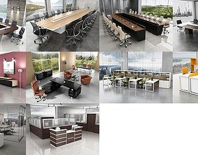 10 Office Interior Pack Collection workplace 3D