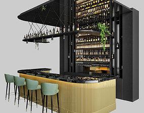 public Restaurant bar 3 3D model