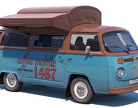 3D Street coffee car Volkswagen