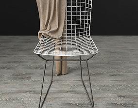 3D bertoia side chair aged