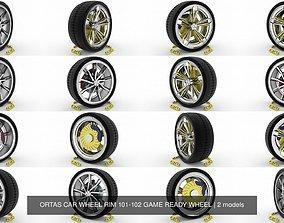 3D ORTAS CAR WHEEL RIM 101-102 GAME READY WHEEL