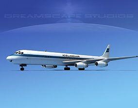 Douglas DC-8-63 Icelandair 3D model