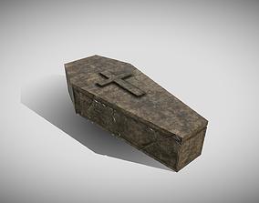 3D asset Stone Medieval Coffin