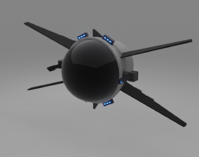 planet Spaceship Game Redy Low-poly 3D model low-poly
