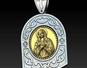 3D printable model Virgin Mary Medalion