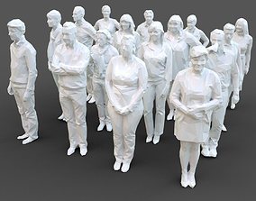 16 Stylized Human Statues Pack V5 3D asset